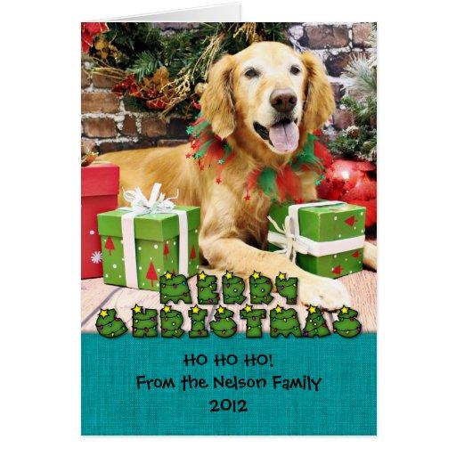 Christmas - Golden Retriever - Libby Greeting Card