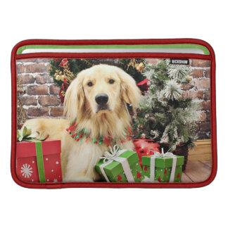 Christmas - Golden Retriever - Ozzy Sleeve For MacBook Air