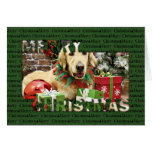 Christmas - Golden Retriever - Penuche Card