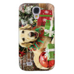 Christmas - Golden Retriever - Penuche Samsung Galaxy S4 Covers