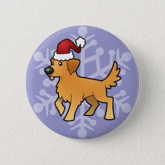 Christmas Golden Retriever Pinback Button