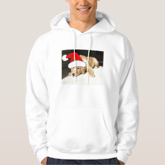 Christmas Golden Retriever Pup Hoodie
