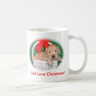 Christmas Golden Retriever Puppy Mug
