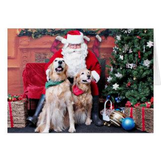 Christmas - Golden Retriever - Sadie & Misty Stationery Note Card