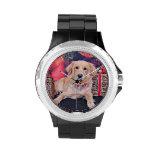 Christmas - Golden Retriever - Sammie Wristwatch