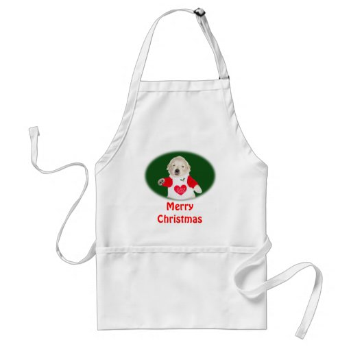 Christmas Golden Retriever Shirts & Gifts Apron