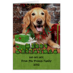 Christmas - Golden Retriever - Sidney Greeting Cards