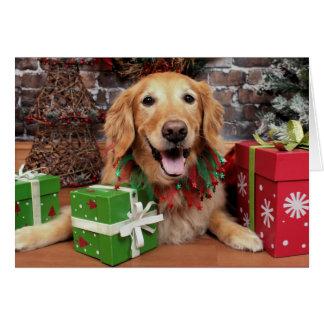 Christmas - Golden Retriever - Sidney Card