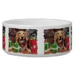 Christmas - Golden Retriever - Sidney Dog Food Bowls