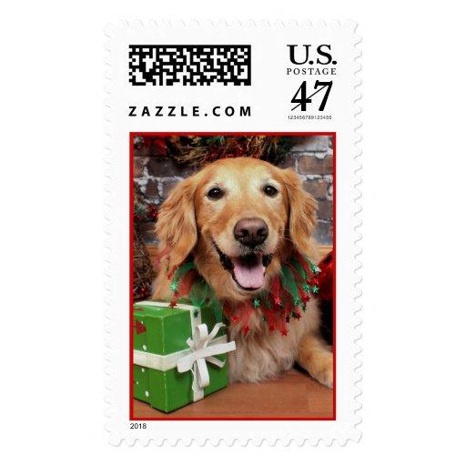 Christmas - Golden Retriever - Sidney Postage Stamp