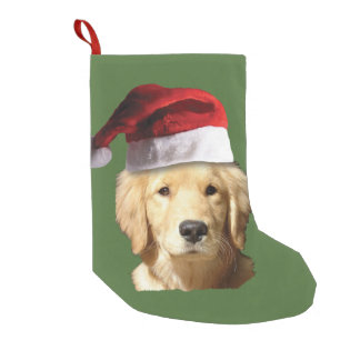 Christmas Golden Retriever Small Christmas Stocking