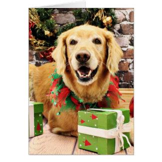 Christmas - Golden Retriever - Stryder Card