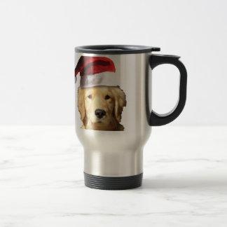 Christmas Golden Retriever Travel Mug
