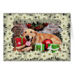 Christmas - Golden Retriever - Wrigley Cards