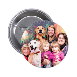 Christmas Golden Retriever Wrigley - Labrador Ally Pinback Button