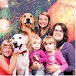 Christmas Golden Retriever Wrigley - Labrador Ally Photo Sculptures