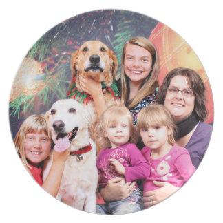 Christmas Golden Retriever Wrigley - Labrador Ally Party Plates
