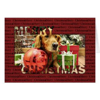 Christmas - Golden Retriever - Zoe Greeting Cards