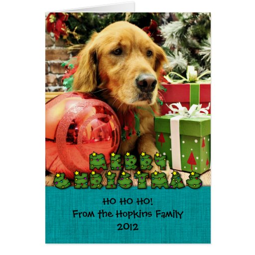 Christmas - Golden Retriever - Zoe Cards