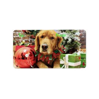Christmas - Golden Retriever - Zoe Address Label