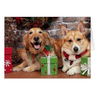 Christmas - Golden Sidney - Corgi Cal Card