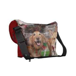 Christmas - Golden Sidney - Corgi Cal Messenger Bag