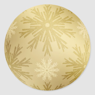 Christmas Golden Snowflakes stickers
