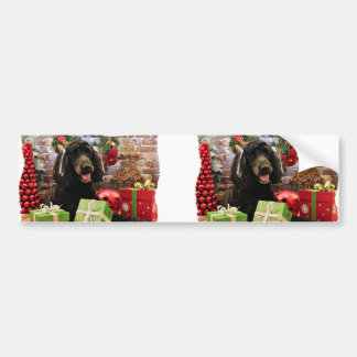 Christmas - GoldenDoodle - Abby Bumper Stickers