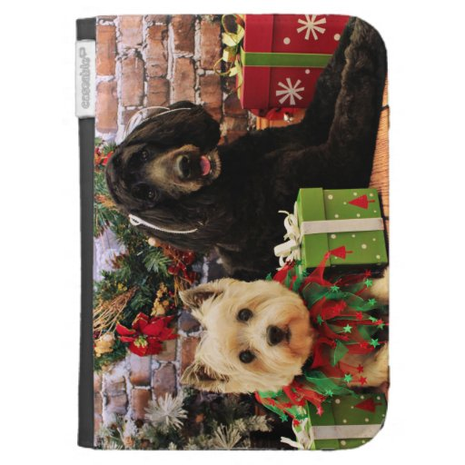 Christmas - GoldenDoodle Abby - Cairn Terrier Roxy Cases For The Kindle