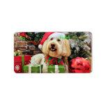 Christmas - GoldenDoodle - Bella Address Label