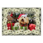 Christmas - GoldenDoodle - Bella Greeting Card