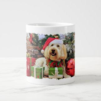 Christmas - GoldenDoodle - Bella Large Coffee Mug
