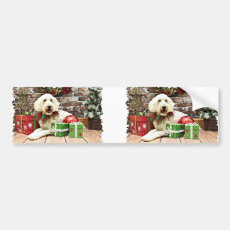 Christmas - GoldenDoodle - Biscuit Bumper Stickers