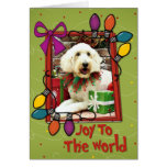 Christmas - GoldenDoodle - Biscuit Cards
