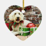 Christmas - GoldenDoodle - Biscuit Christmas Ornaments