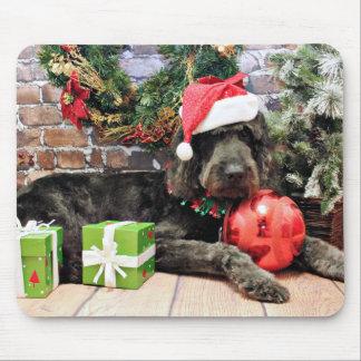 Christmas - GoldenDoodle - Buddy Mousepads