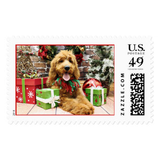 Christmas - GoldenDoodle - Claire Postage
