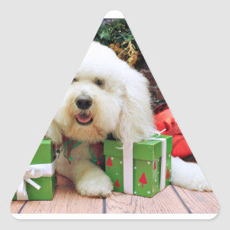 Christmas - GoldenDoodle - Ellie Stickers