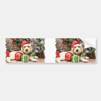 Christmas - GoldenDoodle - Gus Bumper Stickers