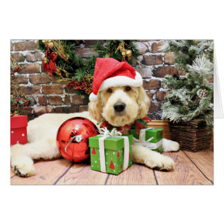 Christmas - GoldenDoodle - Gus Card