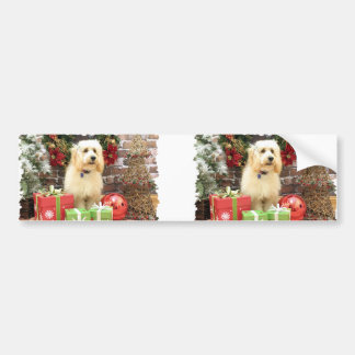 Christmas - GoldenDoodle - Mazy Bumper Stickers