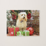 Christmas - GoldenDoodle - Mazy Puzzles