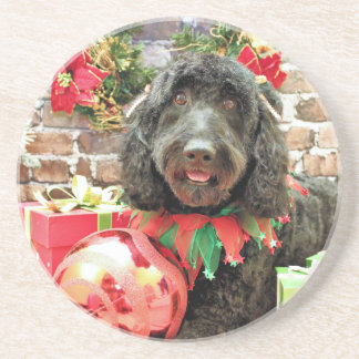 Christmas - GoldenDoodle - Pearl Jam Coasters