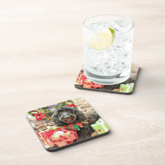 Christmas - GoldenDoodle - Pearl Jam Drink Coasters