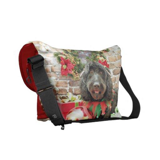 Christmas - GoldenDoodle - Pearl Jam Messenger Bags