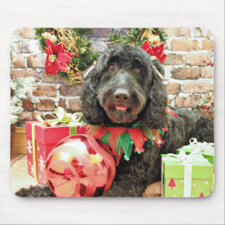 Christmas - GoldenDoodle - Pearl Jam Mousepads