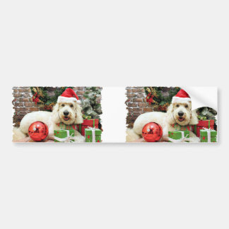 Christmas - GoldenDoodle - Peyton Bumper Stickers
