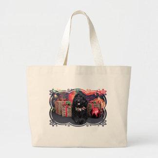 Christmas - GoldenDoodle - PJ Jumbo Tote Bag