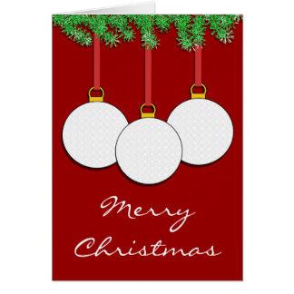 Christmas Golf Card