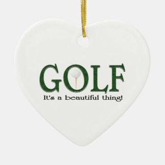 Christmas golf ceramic ornament